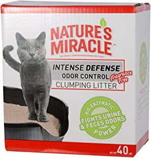 Nature's Miracle Intense Defense Clumping Litter - Fast-Clumping Formula, Dust Free, Fragrance Free Cat Litter