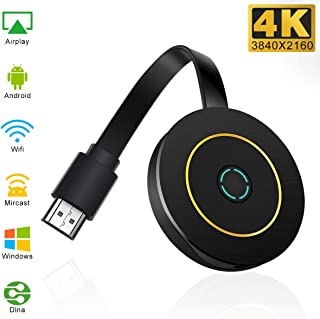 Guisn Wireless Display Adapter 4k,WiFi Display Dongle 4k Wireless 1080P TV Receiver Adapter Compatible Android iOS Windows -Support Miracast Airplay DLNA TV Stick for Laptop Phone to TV Monitor