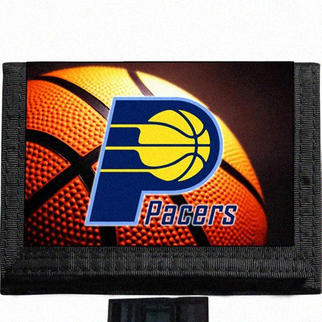 バングながら公園Pacers basketballブラック三つ折りナイロン財布Great Gift Idea Indiana