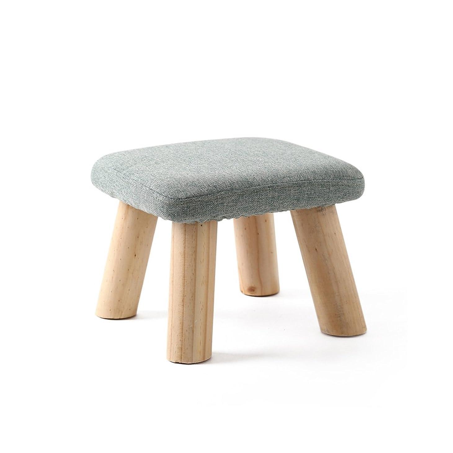 究極の一瞬遊具キッズスツール Baffect 木製子供椅子チェア 完成品 天然ブナの木製 木目調 耐荷重200kg キッズ家具?ベビー?子供部屋?和風室に合わせ (緑)