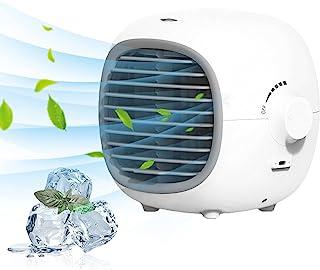 yiteng 冷風扇 扇風機 卓上冷風機 ポータブルエアコン ミニクーラー USB充電式 氷いれ可能 加湿機能 上下角度調節可能 冷却機能 暑さ 熱中症対策 無段階速度調整 ポータブルエアコン 水いれ可能 省エネ 小型 強風 フィルター オフィ...