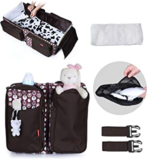 3 in 1 Diaper Bags, Upgraded Portable Bassinet Travel Beds Changing Station Baby Shower Gift