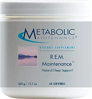 Metabolic Maintenance R.E.M. Maintenance - Sleep Support with Glycine + Melatonin (366 Grams, 60 Servings)