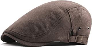 Hat Fashion Unisex Cotton Adjustable Flat Cap Ivy Duckbill Breathable Newsboy Gatsby Irish Cap Fashion Accessories (Color : Brown, Size : Free Size)