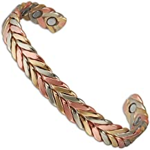 (CPB-0932 ) 6 Magnets Copper Magnetic Bracelets for Arthritis Pain Relief Aid for Men or Women