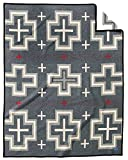 Pendleton San Miguel Warm Wool Patterned Throw Blanket, Grey, Queen Size