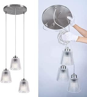 Best glass cluster pendant light Reviews