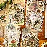 K KUMEED 240 Stück Scrapbooking Vintage Aufkleber Notizbuch Vintage Stempel, Stempel Vintage für Fotoalbum Dekoration, Vintage Sticker für Scrapbook Kalender Notizbuch Tagebuch