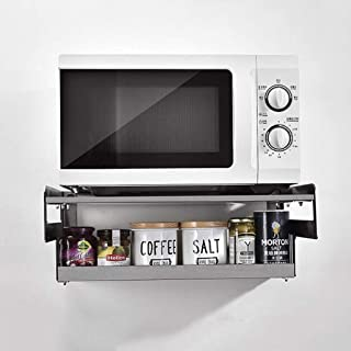 HYYDP étagère 304 Mur en Acier Inoxydable Mounted Double Four Shelf, Cuisine Assaisonnement Casiers Organisateur, épaissie...
