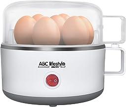 Cuiseur à œufs électrique ABC-Lifestyle EB-353 - Blanc - Pour cuisson des œufs doux, moyens ou durs - Avec buzzer et verre...
