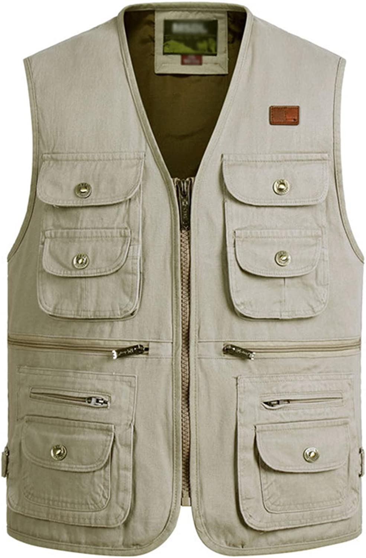 Gihuo Men's Outdoor Fishing Travel Safari Pockets Vest