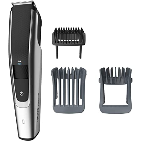 Philips Series 5000 Norelco Electric Cordless One Pass Beard and Stubble Trimmer with Washable Feature, Black and Silver