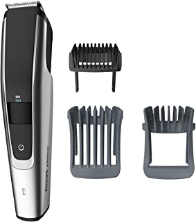 Philips Norelco Beard Trimmer Series 5000, BT5511/49, electric, cordless, one pass beard and...
