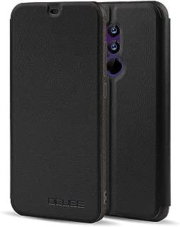 Maxku UMIDIGI Z2 / Z2 Pro ケース 超軽量 PUレザー スタンドカバー 手帳型 保護ケース (ブラック)
