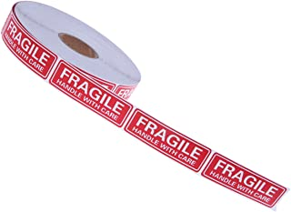 1000 Count Fragile Stickers - Fragile Handle with Care Labels - for Moving, Shipping, Mailing, Office - Individual Sticker Measures 3