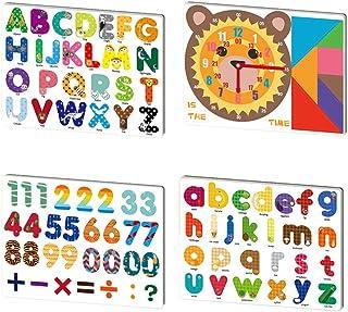 94 قطعة من مغناطيس الحروف الأبجدية الأبجدية الأبجدية الإنجليزية للأطفال الصغار والأطفال الصغار، ألعاب تعلم الحروف من أجل ع...