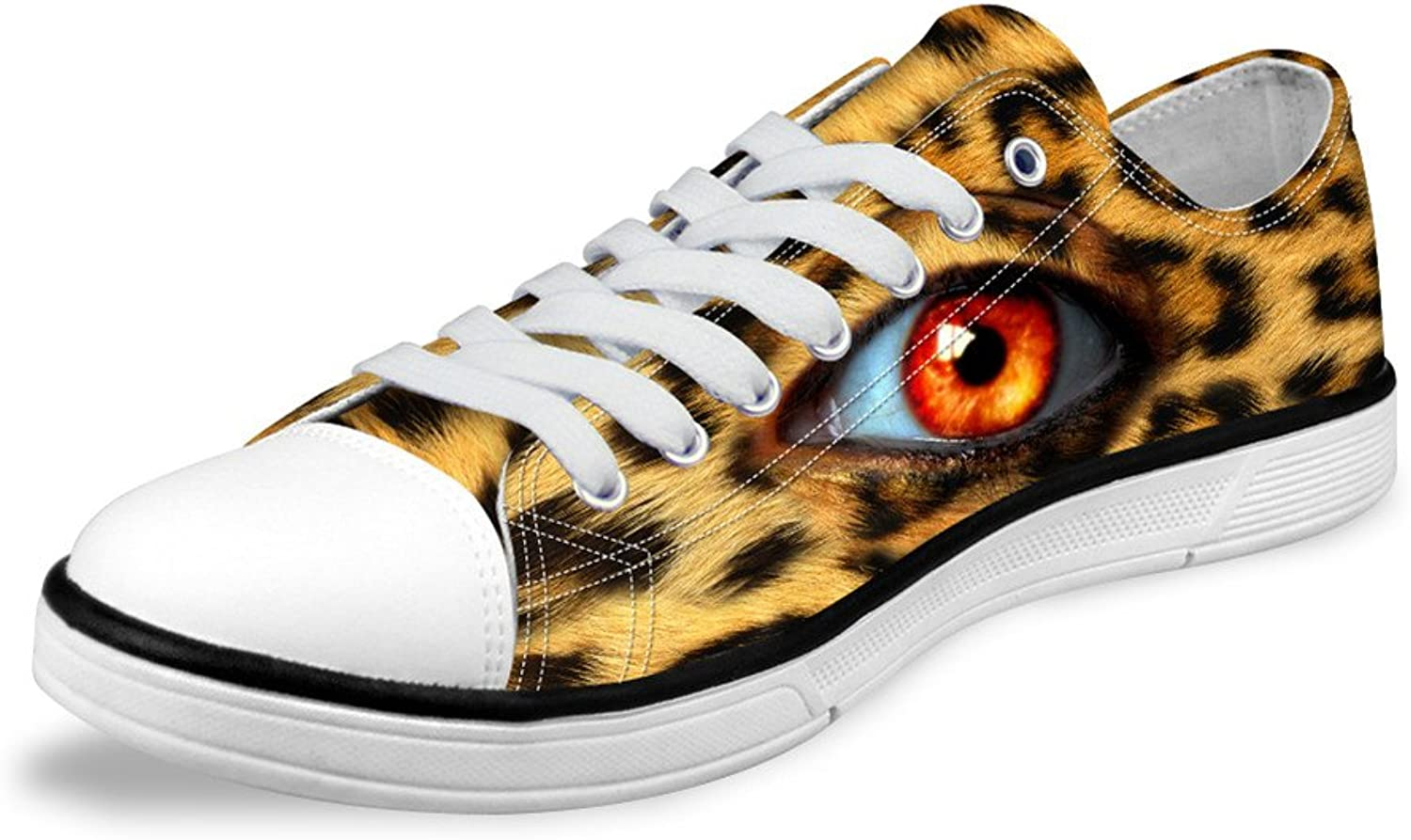 Micandle Big Eyes Print Canvas Low Top shoes Casual Running Sneakers