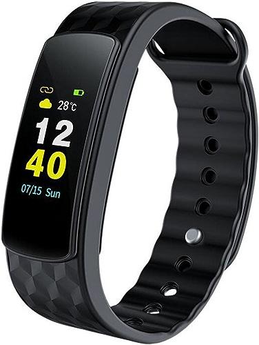SamuroGriezhommen Fitness Tracker, Imperméable Tracker d'Activité, bleutooth Sans fil Bracelet Intelligent pour Android et iOS (Noir)