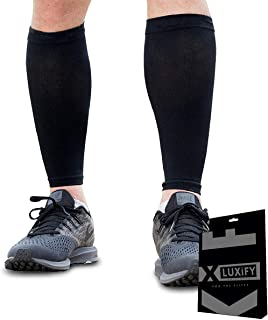 Luxify Calf Support Sleeves Compression for Men & Women – Best Compression Socks for Running, Leg Shin Splint, Pain Relief...