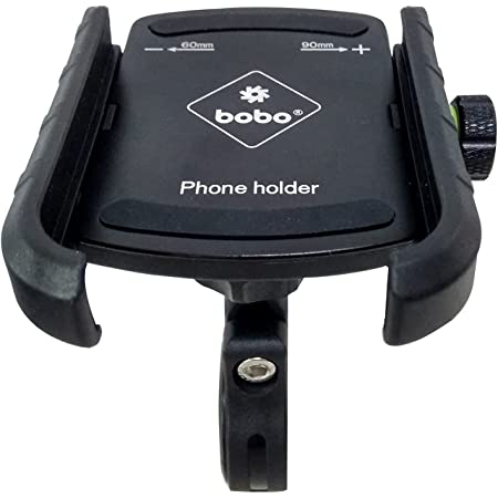 BOBO BM4 Jaw-Grip Waterproof Bike / Motorcycle / Scooter Mobile Phone Holder Mount, Ideal for Maps and GPS Navigation (Black)