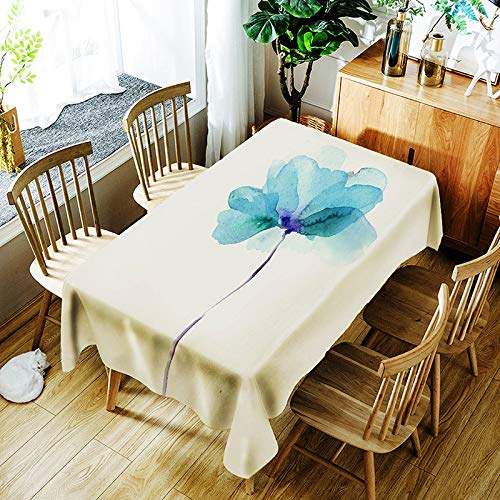 XXDD Tovaglia Fiore Creativo 3D Pittura Colorata Fiori Dipinti Modello Confortevole tovaglia Impermeabile Copertura per la casa A11 135x160cm