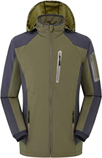 GAOXIAOMEI Men's Ski Jacket Lightweight Waterproof Windproof Snow Coat with Removable Hood Insulated Multi-Pockets Sports ...
