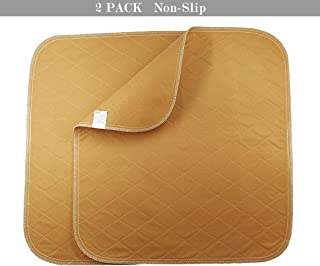 ZISU 2 Pack Absorbent Washable Chair Pads for Incontinence,Non-Slip Reusable Seat Protector Pad, Waterproof Underpads for Adult Children Or Pet-Size 20x21 inch