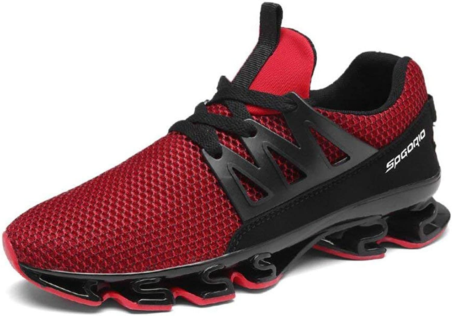 FuweiEncore Men's Trainers Running shoes, Casual Mesh-Athletic Sneakers, Lightweight Sport shoes, Breathable Gym Fitness (color  B, Size  47) (color   B, Size   41)