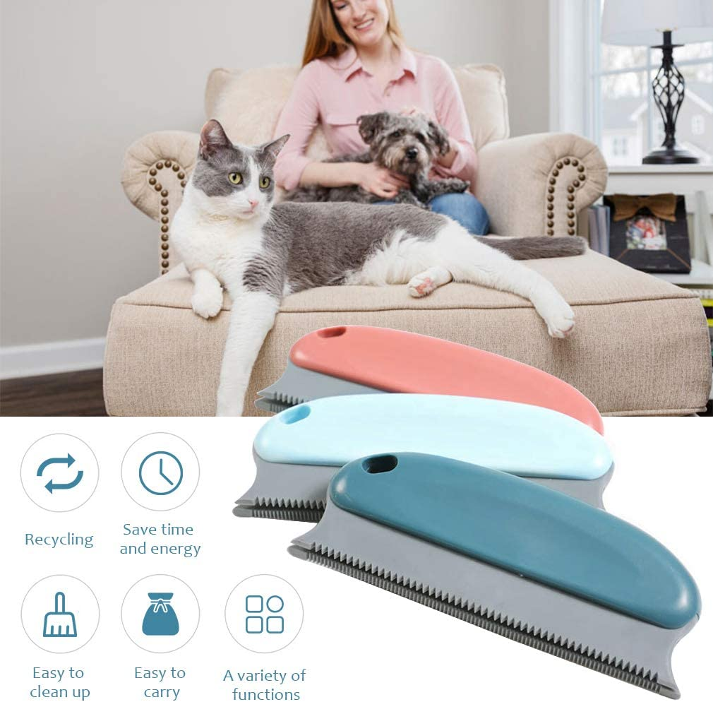 Lint Remover Cat Hair Detailer for Carpet Couch Sofa Clothes Blankets Beds Chairs Furniture Pet Hair Brush Pet Fur Remover Dark Blue Car Dog Hair Brush