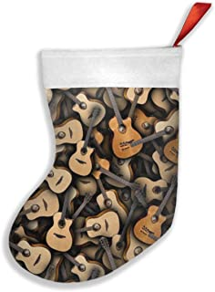 Luckye-ltd Guitars Christmas Stockings Classic Decoration for Family Holiday Xmas Party Set of 2