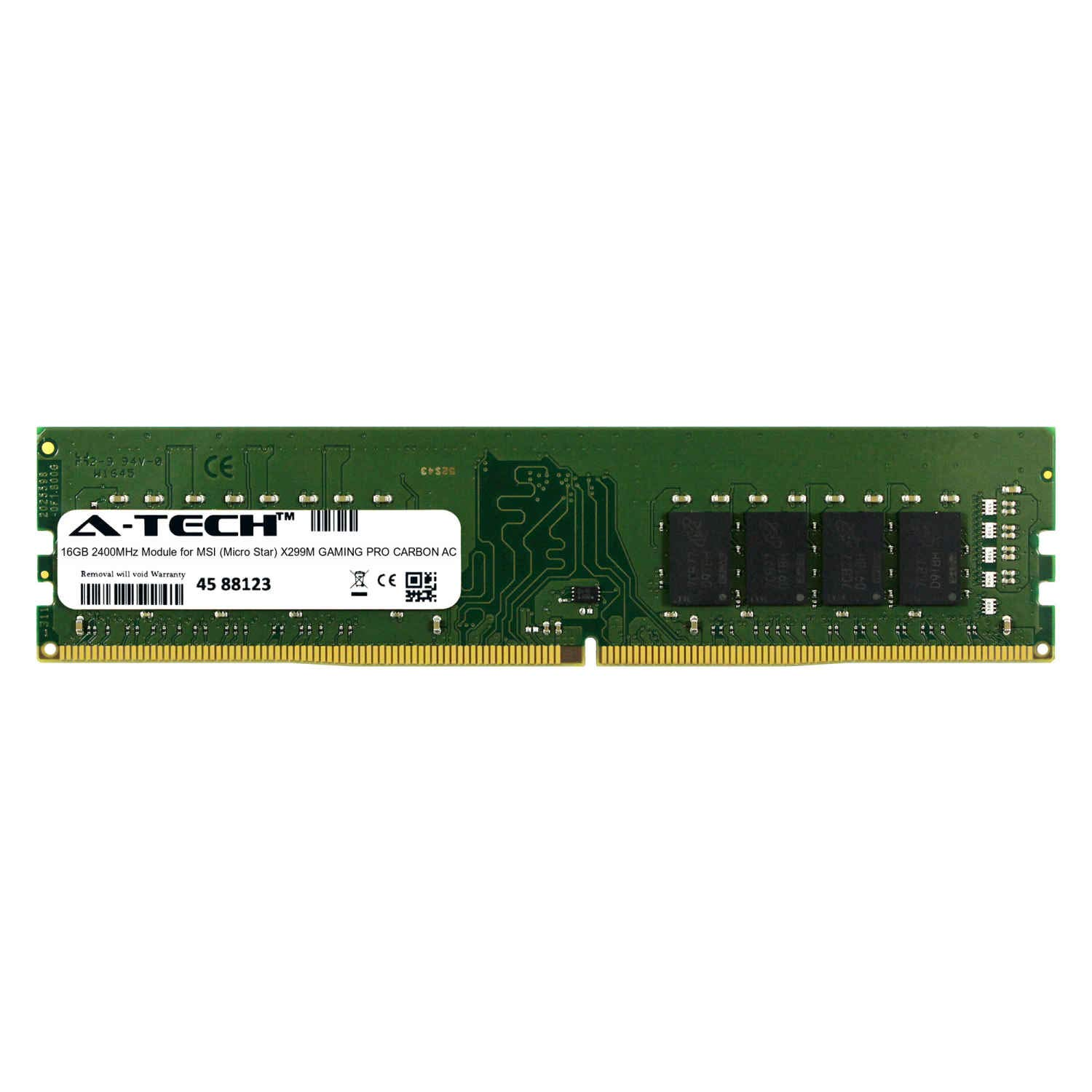 A-Tech 16GB Module for MSI (Micro Star) X299M Gaming PRO Carbon AC Desktop & Workstation Motherboard Compatible DDR4 2400Mhz Memory Ram (ATMS367762A25822X1)