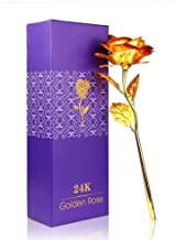 Jamboree 24K Golden Rose with, Gift Box and Carry Bag - Best Valentine's Day Gift, Birthday Gifts Gold Dipped Rose