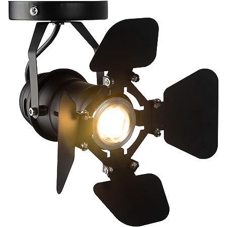 Hobaca® GU10 L19 * W17cm Mini Loft Spot à LED Plafonniers Éclairage sur rail industriel Lampes rétro montées en surface Downlight pour petit comptoir