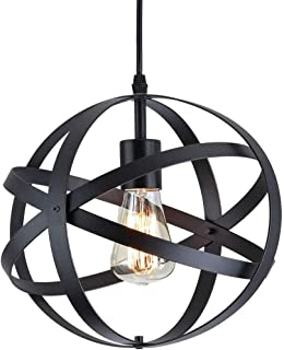 Lámpara Colgante Vintage Industrial, Lámpara de Techo Metal, E27 Lámparas de Araña Cable Ajustable, Para en Cocina Escalera Dormitorio Salon Diámetro 30cm.