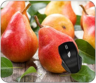 Mouse Mat Leaves Pear Fruit Pretty Delicious Printed Mouse Pad