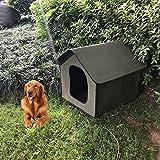 DEECOZY Casa de gato impermeable Casa de perro Mascotas al aire libre Casa de gato, casa de perro a prueba de lluvia al aire libre Casa de gato Villa tienda plegable refugio para mascotas