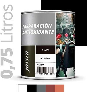 IMPRIMACION ANTIOXIDANTE METAL, Pintura tratamiento superficies de metal anti oxido. Imprimacion uso general, Proteccion total. Anti oxidante. (750ML, NEGRO)