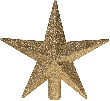 """Clever Creations Gold Star Christmas Tree Topper Festive Christmas Decor 