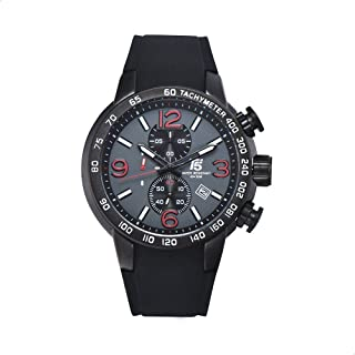 T5 H3450G-A Round Silicone Analog Watch for Men - Black