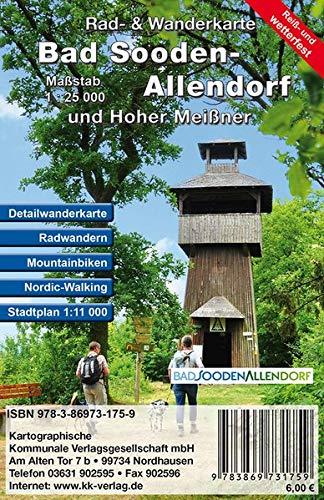 Bad Sooden-Allendorf und Hoher Meißner: Rad- und Wanderkarte mit Stadtplan (Reiß- und wetterfest)
