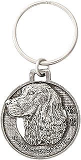 Springer Spaniel Dog Pewter Key Chain, Key Fob, Key Ring, Gift, D172KC