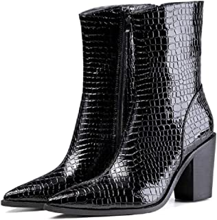 Gold Cloud Women GC0462 Leather Pointed Toe Heeled Comfort Boots