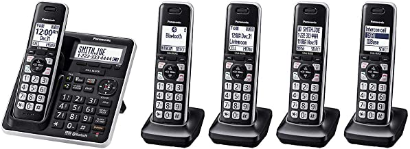 $104 » Panasonic KX-TG985 DECT 6.0 Bluetooth 5-handset Phone Bundle