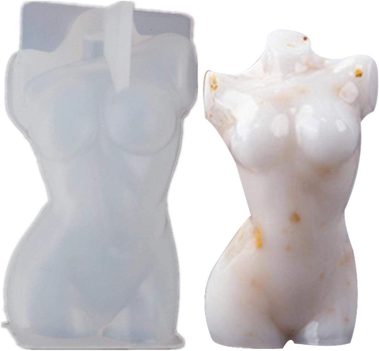 Forma Irregular /Única 3D Silicona Molde De Vela De Cuerpo Mujer Awayhall Moldes para Velas Molde De Jab/ón De Diosa De Venus para Adorno De Velas De Bricolaje