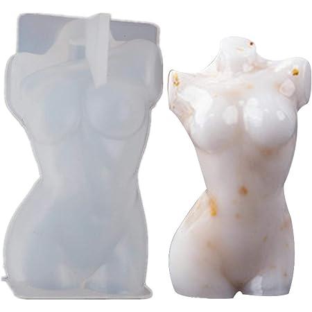 Molde de silicona para el cuerpo, molde de arcilla desnuda de mujer 3D, molde de resina en forma de cuerpo, molde de silicona de cuerpo desnudo, molde de silicona para chocolate, velas de yeso de chocolate, molde para decoración de pasteles