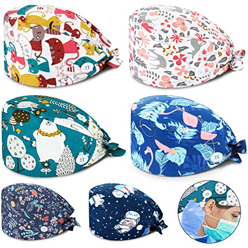 SATINIOR 6 Pieces Working Cap with …
