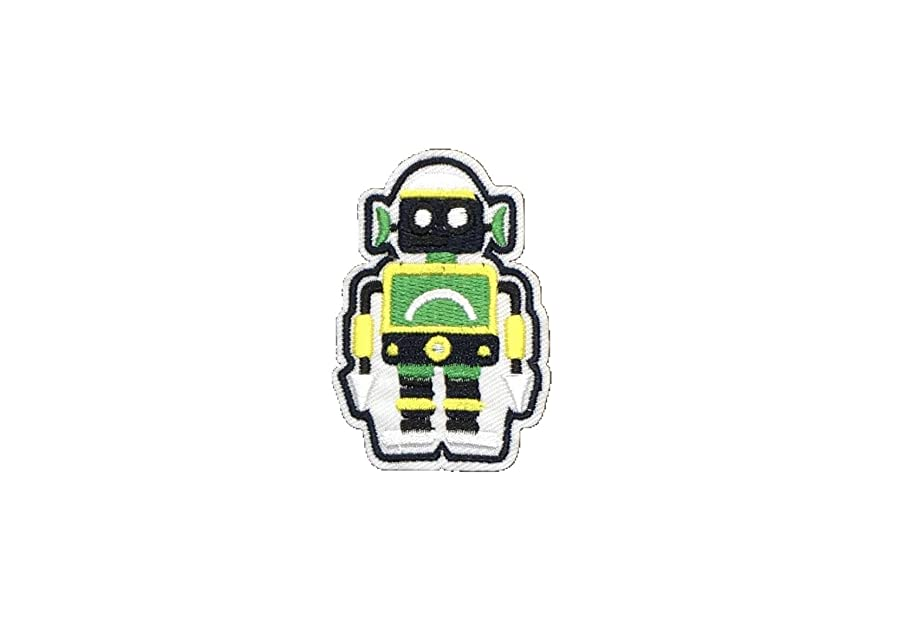 Robot Cute DIY Applique Embroidered Sew Iron on Patch p#392b