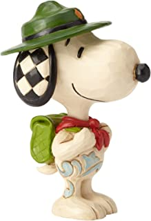Enesco Jim Shore Peanuts Snoopy Boy Scout Miniature Figurine, 3.5 Inch, Multicolor