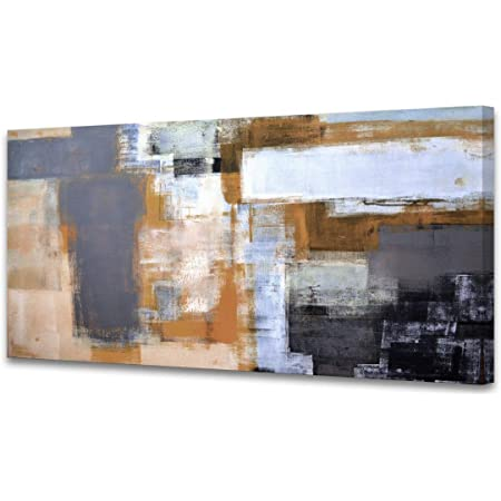 Amazon Com A61850 Modern Giclee Canvas Prints Picture Wall Art Abstract Brown Grey Framed Paintings For Bedroom Living Room Office Home Decoration Modern Artwork Wall Decor Ready To Hang 20x40 Inch Furniture