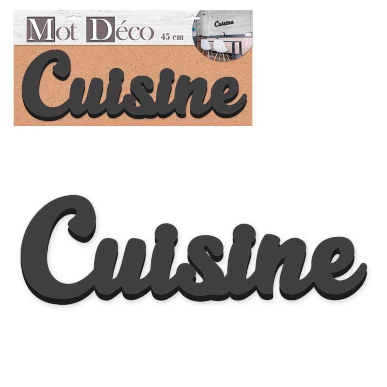 Mot Décoratif 19 cm Noir Cuisine